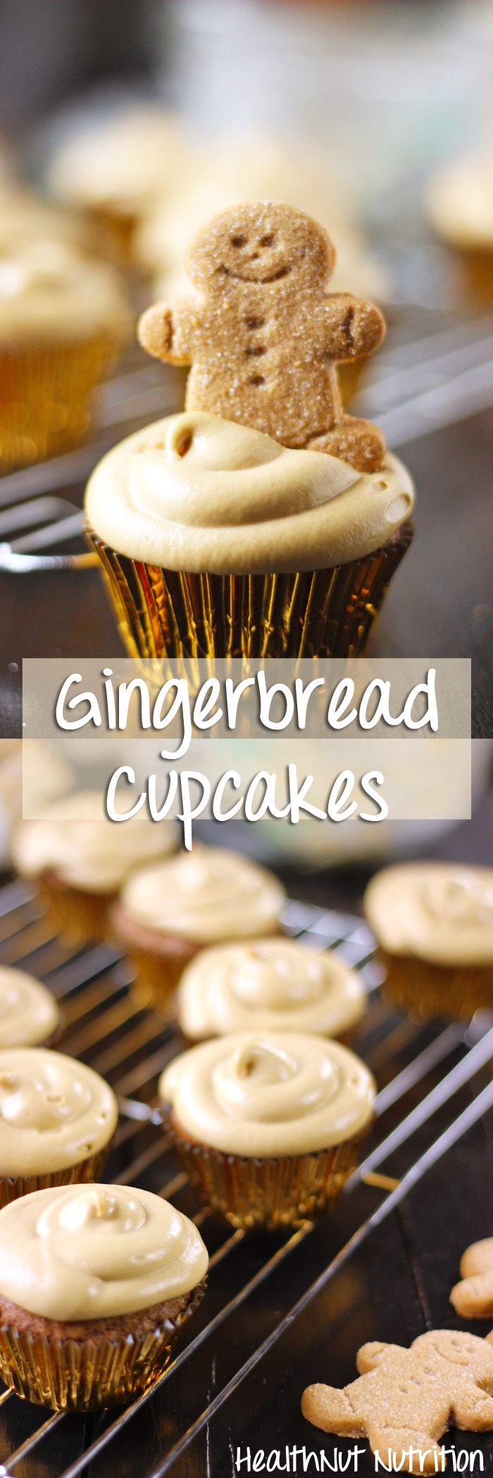 GINGERBREAD CUPCAKES RECIPE WITH A MOLASSES CASHEW BUTTERCREAM