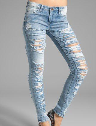 62 best images about ripped jeans on Pinterest | Print leggings ...