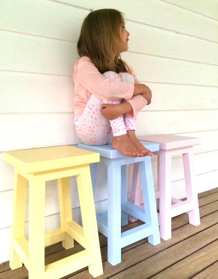 Pastel kid's stools x
