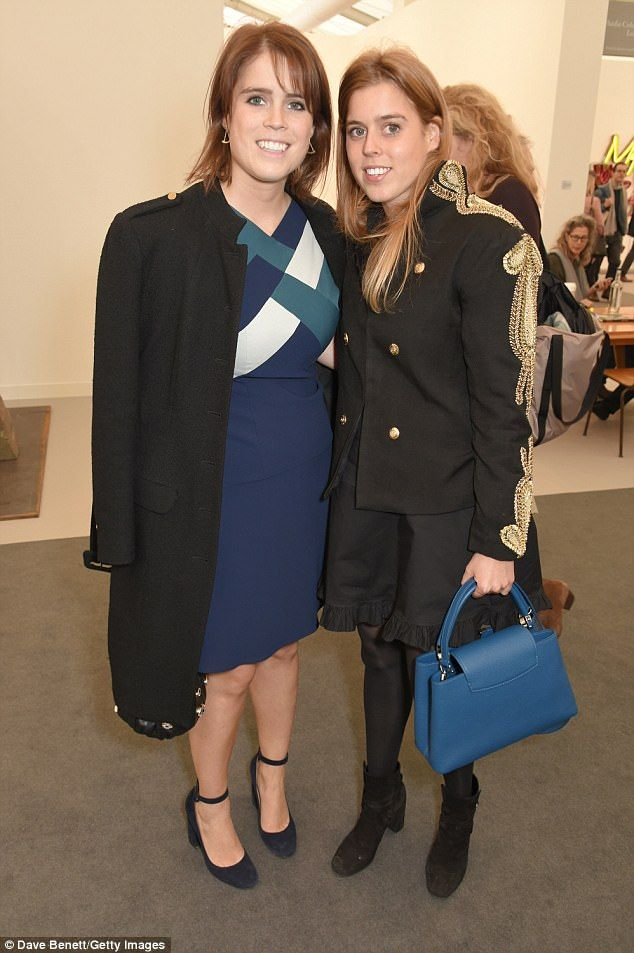 Beatrice, pictured with her sister Eugenie, at theFrieze Art Fair 2017 in October, divides her time between New York and London.