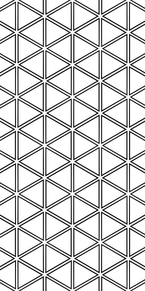 Repeating monochrome hexagonal vector triangle pattern design