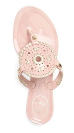 Light pink Jack Rodgers rubber sandals
