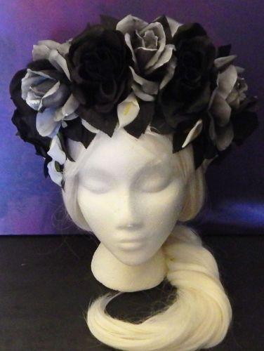 Gothic Accessories Goth Black Headband Black Roses Vampires Victorian Goth | eBay