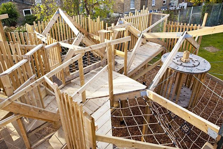 Apes At Play » Dexter Adventure Playground. Playground in Lambeth, London.