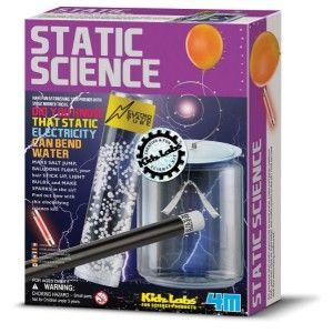 """ΚΑΤΑΣΚΕΥΗ """"ΣΤΑΤΙΚΗ ΕΠΙΣΤΗΜΗ"""" Καταπλήξτε τους φίλους σας με τα εκπληκτικά ηλεκτροστατικά κόλπα! Γνωρίζετε ότι η ηλεκτροστατική επιστήμη μπορεί να κάνει το νερό να λυγίσει, να κάνει σπινθήρες, να ανάψει μια λάμπα ή να κάνει το αλάτι να πηδήξει; Κάθε κουτί περιλαμβάνει εξαρτήματα για να χρησιμοποιηθούν συμπληρωματικά με κοινά είδη οικιακής χρήσης, έτσι ώστε να δημιουργήσετε διάφορα εκπαιδευτικά κόλπα και πειράματα. Διασκέδαση, μάθηση και εκπαίδευση από την 4M."""