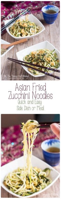 This easy recipe for Asian fried zucchini noodles is a healthy, low-carb, paleo alternative to Asian noodles made with wheat. Did I mention it's delicious?