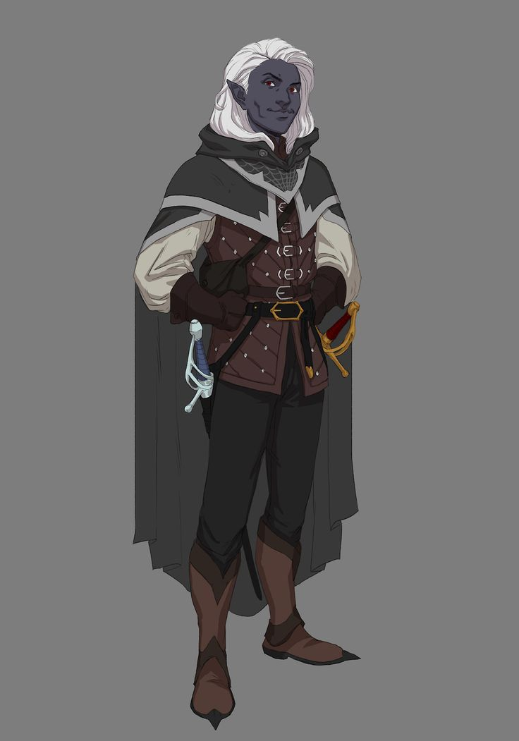 """forgingmeanings:  """" Gwylyss Darthiir at your service! the most handsome drow you've ever met! the most talented Ranger you've ever witnessed! and the most famous Dragon Hunter you've seen! AT YOUR SERVICE!  a character i made for a oneshot i did a year..."""