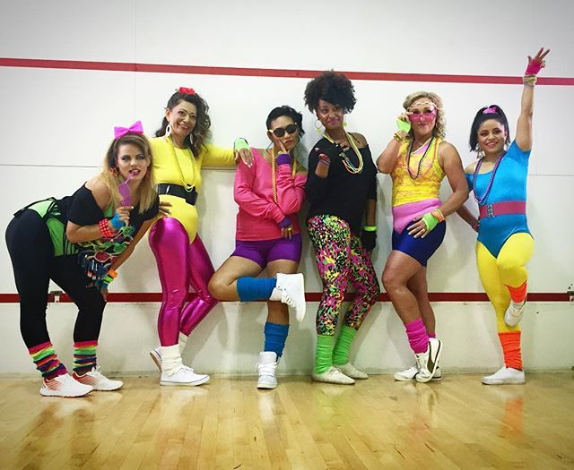 nostalgia time neon bright 80s workout costume inspiration - 80s Dancer Halloween Costume