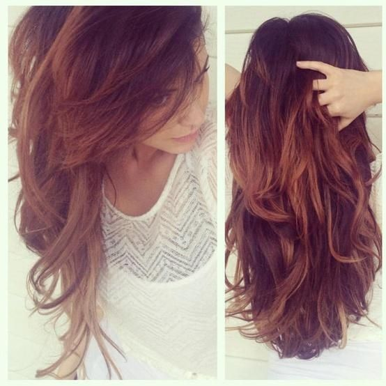 Want To Try With Red Brown Ombre Hair Oakland Asian