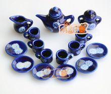 G05-X476 kinder baby geschenk Spielzeug 1:12 Puppenhaus mini Möbel Miniatur rement Chrysantheme tee und kaffee 15 teile/satz(China (Mainland))