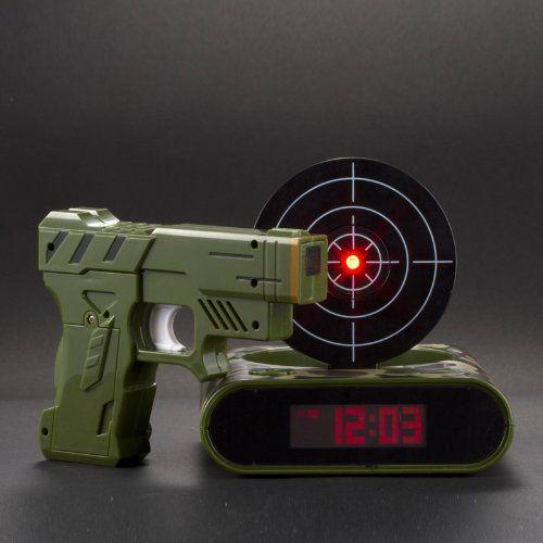 Lock N' load target alarm clock Gun alarm clock