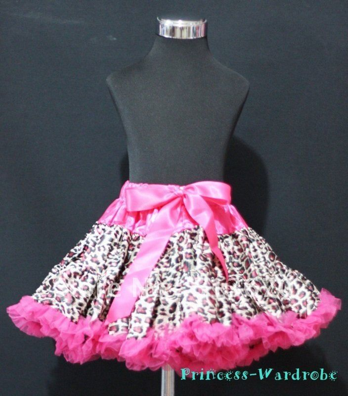 Hot Pink Leopard Pettiskirt Party Skirt Pageant Dance Dress Teen Adult 8-10Y MAP85