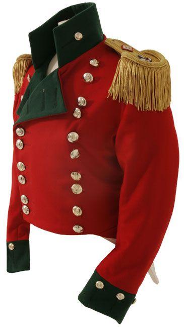 Officer Frock Coat c1815 Light Company of Loyal Newport Volunteers