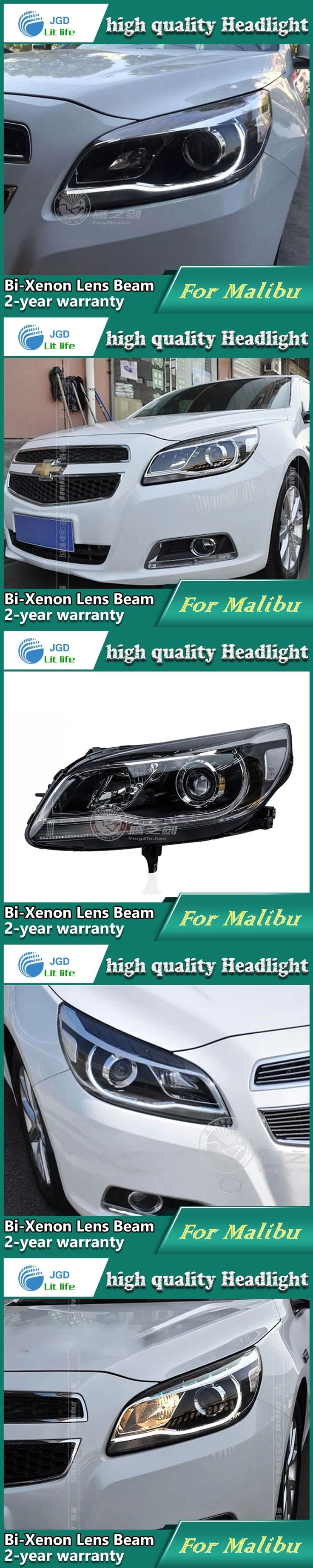 high quality Car styling case for Chevrolet Malibu 2013 Headlights LED Headlight DRL Lens Double Beam HID Xenon Car Accessories