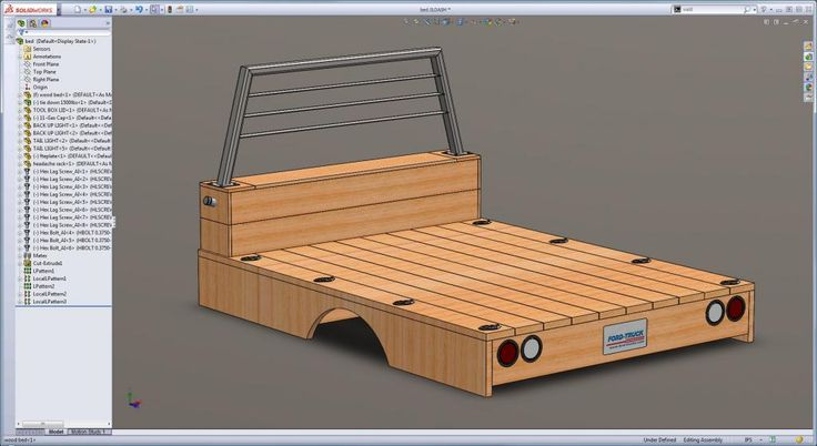Wooden flatbed build info, page 25 shows what it looks like afterwards
