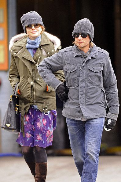 Nicole Kidman and Keith Urban in knit beanies in NYC