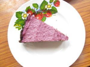 Торт шоколадно-вишнёвый, сыроедческий