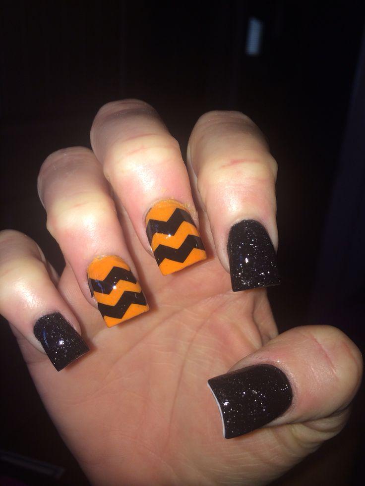 Halloween acrylic nails | Halloween nails | Pinterest ...