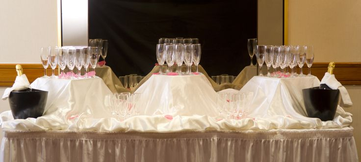 Wedding Champagne set up