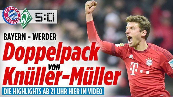 FC Bayern München gegen SV Werder Bremen am 26. Bundesliga-Spieltag - Bundesliga Saison 2015/16 - Bild.de