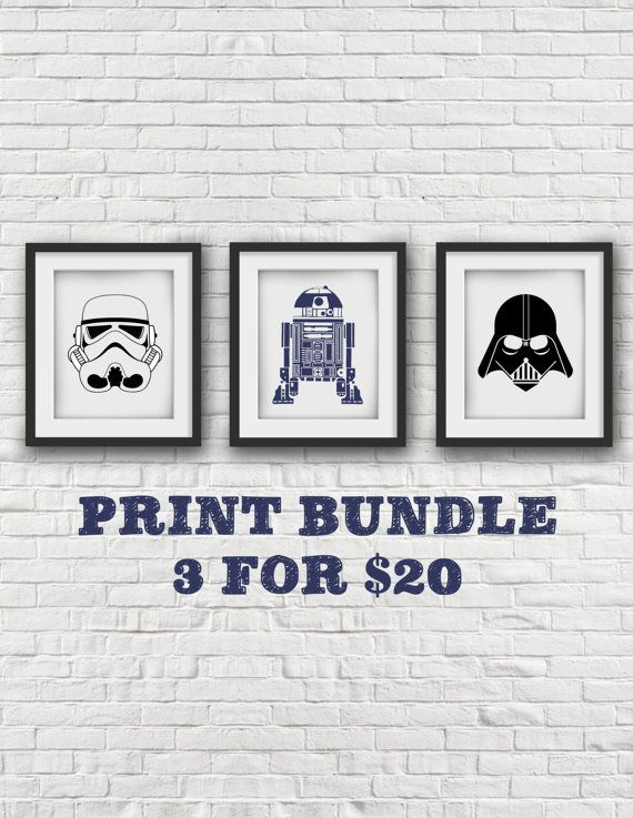 Star Wars Art, sticker Star Wars, Darth Vader, Stormtrooper, R2-D2, affiche de Star Wars, Star Wars Art, Art de R2D2, Stormtrooper Poster