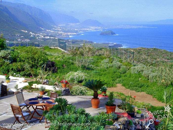 #Studio mit Terrasse, Garten und Traumblick auf Finca in #Icod de los Vinos, #Tenerife