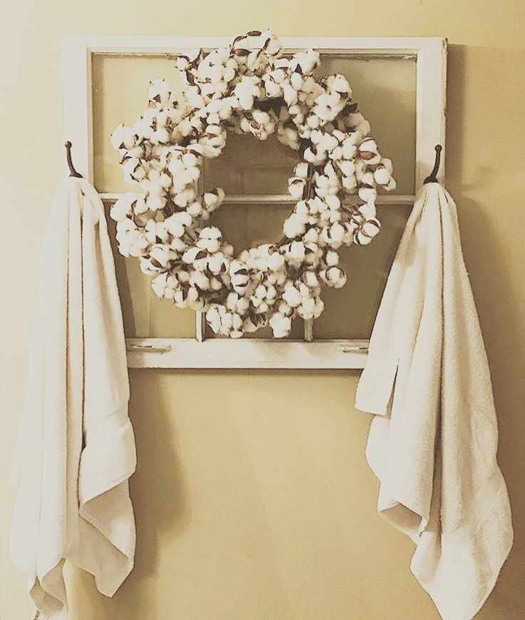 Cotton wreath from Southern with Grace
