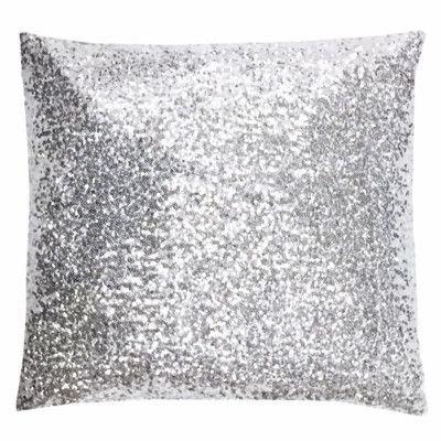 "NECR Print Silver Glitz Throw Pillow Size: 18"" H x 18"" W x 5"" D"