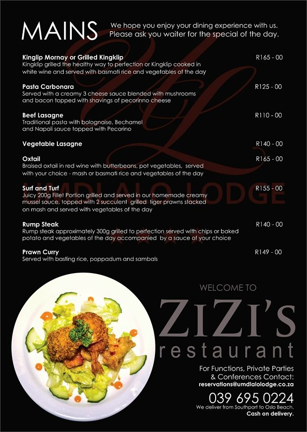 You'll surely have an #appetite after reading our amazing #New #Menu! #KZNsouthcoast #HibiscusCoast #WhereToEat #Food
