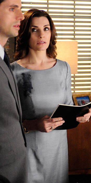 The Good Wife Season 5 Outfits, Explained by Costume Designer Daniel Lawson - Season 5, Episode 21: Boss Hugo Boss Dress from #InStyle