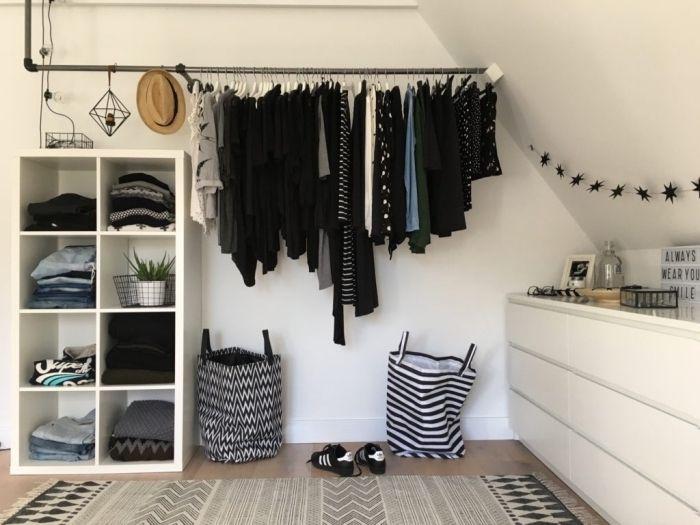 1001 Rangements Malins Pour Trouver La Meilleure Idee Dressing Adaptee A Tout Espace Idee Dressing Dressing Pour Petit Espace Placard Chambre