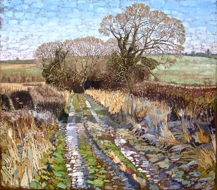 Holme Wood Lane - oil painting by Tom Wormell