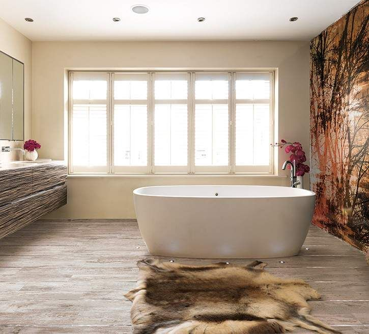 25+ best badezimmer fliesen beige ideas on pinterest - Feinsteinzeug Holzoptik Bad