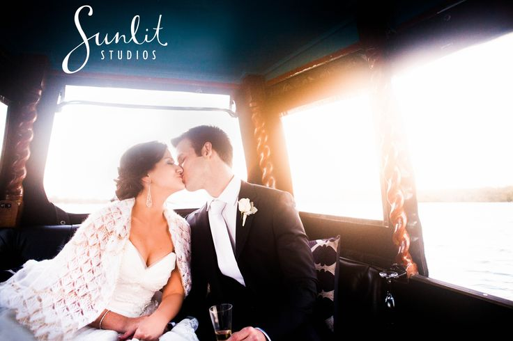 A gondola ride at sunset - what a perfect way to finish off a Noosa Wedding!