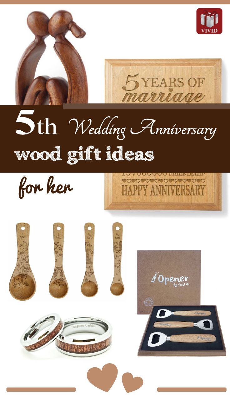 5th Anniversary Ideas. Wood Anniversary Gifts.