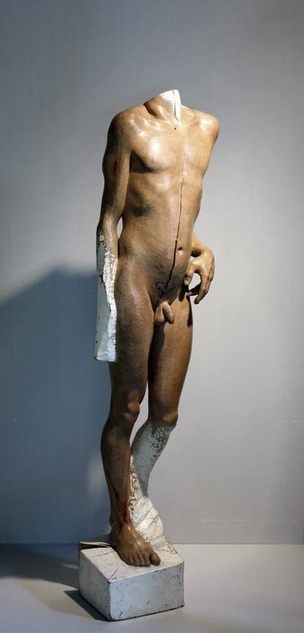 jerzy fober, wskrzeszenie łazarza, 1987, drewno polichromowane