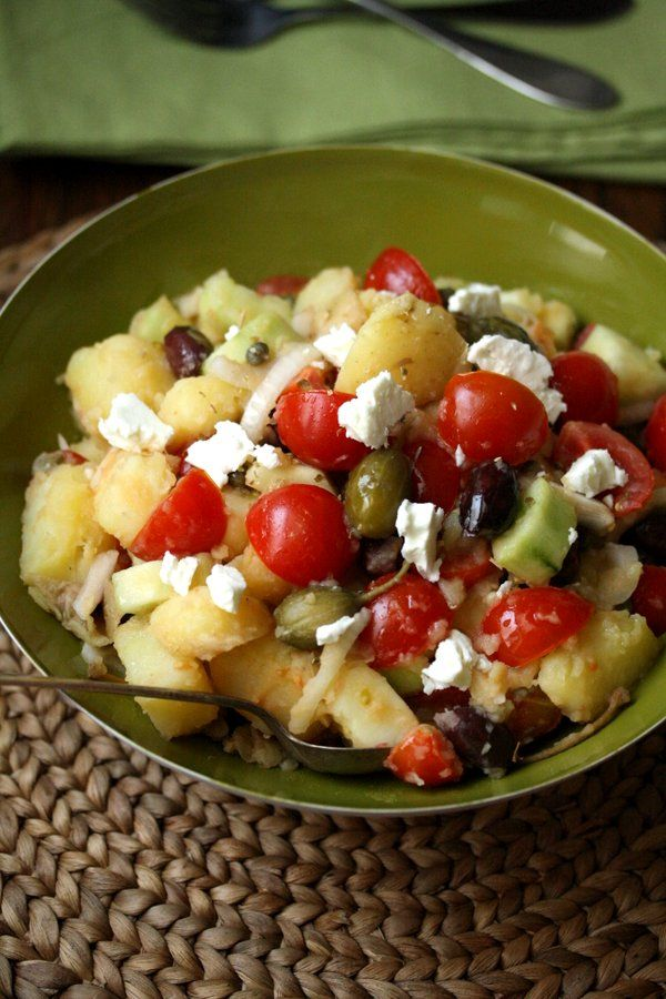 Healthy Greek Potato Salad #Summer Soiree