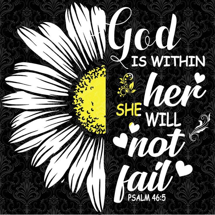 God is within her,daisy flower, daisy vector, daisy svg ...