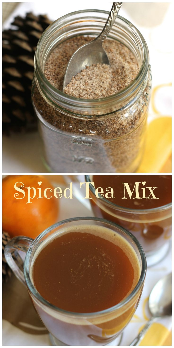 Spiced Tea Mix | Brittany's Pantry - This orange, tea, spice mix is comforting and cozy! Great to make up as a gift this holiday season!