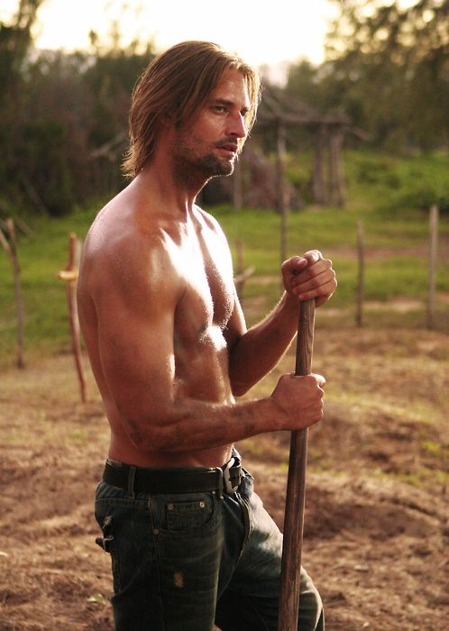 Cause gravedigging shirtless is the best gravedigging (if you're hot like sawyer)