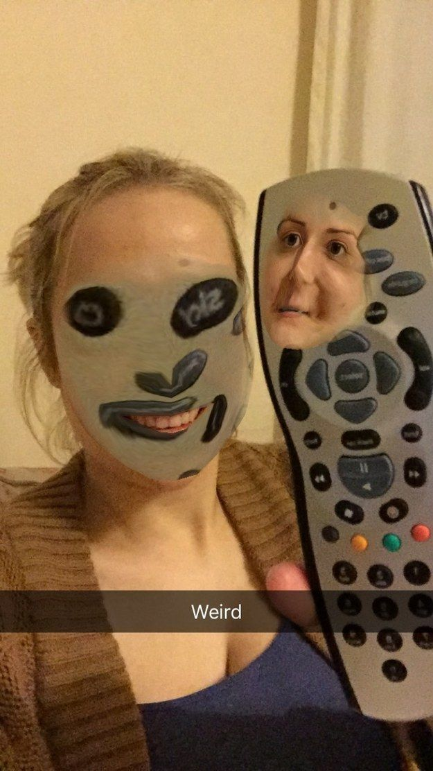 This swap with a remote control. | 23 Face-Swaps That Are Never Not Funny