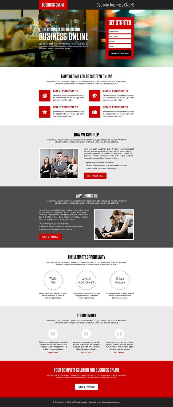 complete solution for online business professional lead capture landing page design