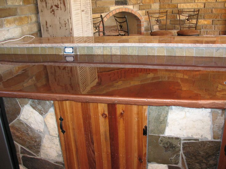 Cabin style bar done with countertop epoxy epoxy bar for Bar style countertop