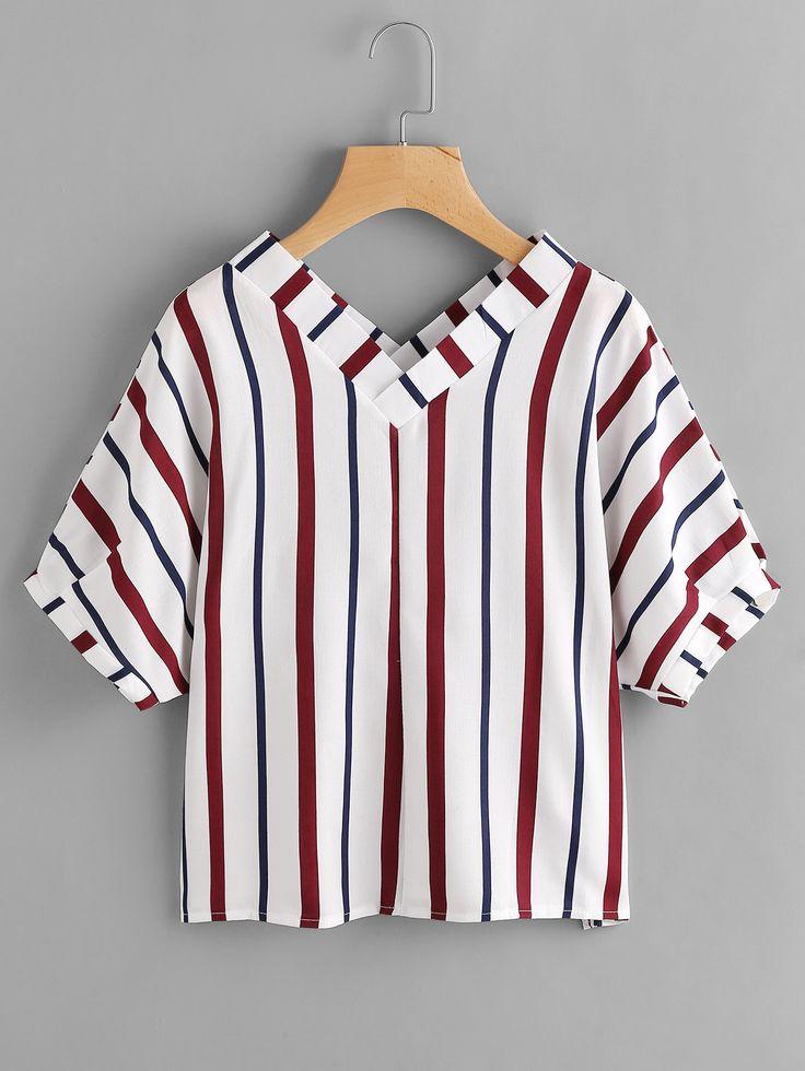 http://es.shein.com/Double-V-Neckline-Stripe-Blouse-p-368258-cat-1733.html