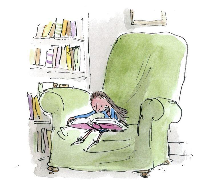 """La sana curiosidad es una potencia del alma, que los libros mantienen en un constante crecimiento, y nos hace sentir como Matilda en la biblioteca (Roald Dahl y Quentin Blake """"Matilda"""")"""