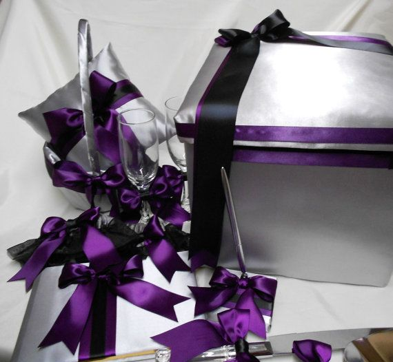 Silver Eggplant Black Wedding Accessories Ring by weddingsbyminali