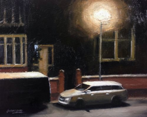 Oil-Painting-by-Steve-Sanderson-Wednesday-morning-3am-Impressionism