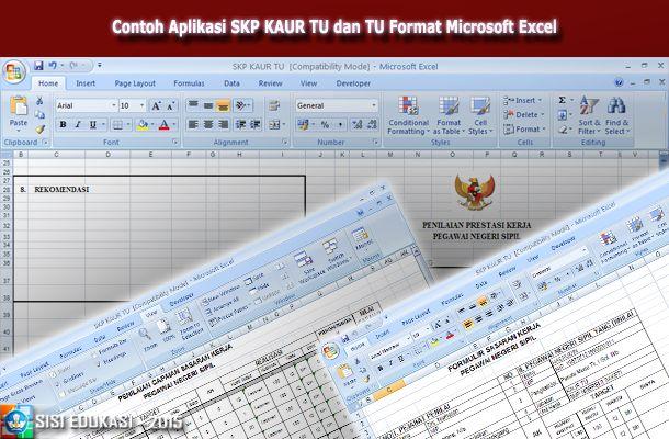 [.xls otomatis] Aplikasi SKP KAUR TU dan Tata Usaha Sekolah Menggunakan Microsoft Excel Terbaru Download Gratis