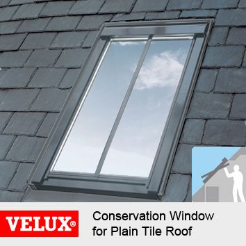 VELUX GGL SD5P1 Conservation Centre-Pivot Roof Window for Plain Tiles