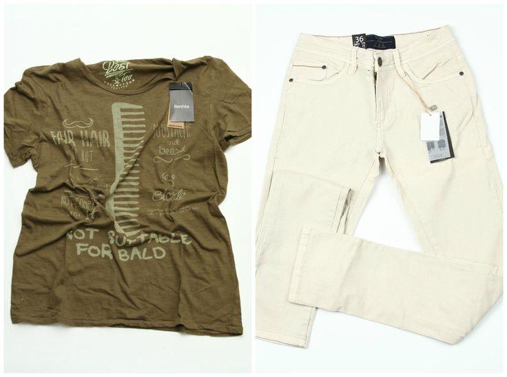 Bershka men summer outfit >> Blugi barbati: https://www.543.ro/blugi-bershka-i10139  Tricou barbati: https://www.543.ro/tricou-bershka-40-i531